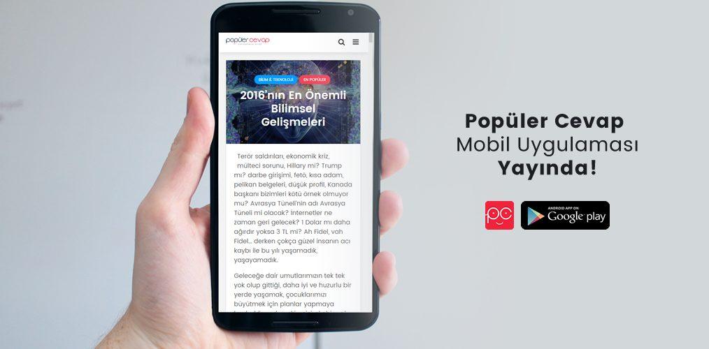 Popüler Cevap mobil uygulaması yayında
